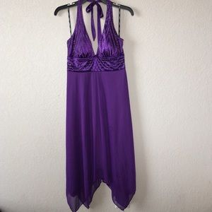 XOXO Midi purple dress